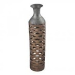 Sterling Industries Tamarac-Laser Cut Copper Tone Vase (Large) - 138-051