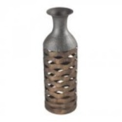 Sterling Industries Tamarac-Laser Cut Copper Tone Vase (Small) - 138-052
