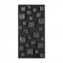 Sterling Industries Nova-Contemporary Wall Panel In Etched Silver (Rectangle) - 138-063