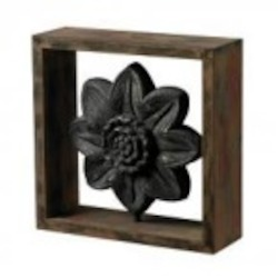 Sterling Industries Wood Frame Accessory With Cast Iron Look Centre - 26-8661