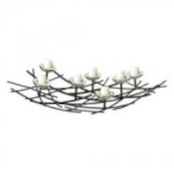 Sterling Industries Iron Nest Candle Holder In Black / Chrome - 51-10037