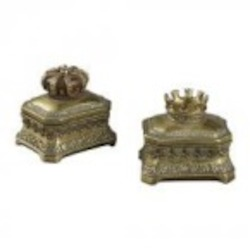 Sterling Industries Set Of 2 Mini Keep Sake Boxes - 93-10100