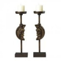 Sterling Industries Set Of 2 Reclaimed Artifact Candle Holders - 93-19293/S2