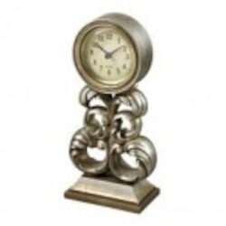 Sterling Industries Desk Clock In Antique Silver - 93-19318