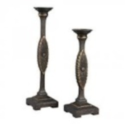 Sterling Industries Candle Holders In Mirfield Bronze - 93-19335/S2