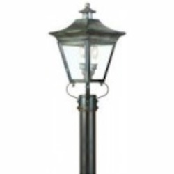 Troy Two Light Black Post Light - P8931CI