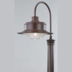 Troy One Light Gray Post Light - P9394OG