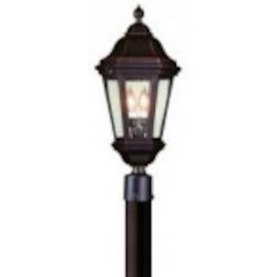 Troy Two Light Bronze Post Light - PCD6832ABZ