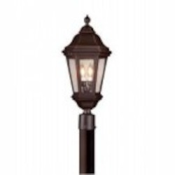 Troy Two Light Black Post Light - PCD6832MB
