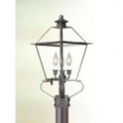 Troy Three Light Rust Post Light - PCD9135NR