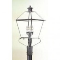 Troy Four Light Rust Post Light - PCD9141NR