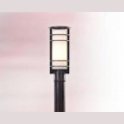 One Light Brushed Aluminum Post Light