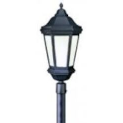 Troy Three Light Black Post Light - PFCD6835MB