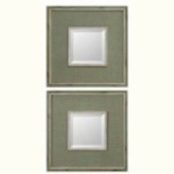 Uttermost Sheridan Green Mirror Set/2 - 13842