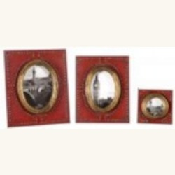 Uttermost Abeo Burnt Red Photo Frames, S/3 - 18553