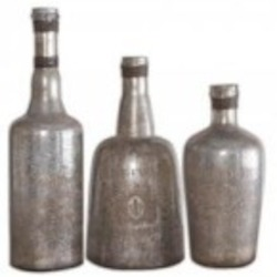 Uttermost Lamaison Mercury Glass Bottles S/3 - 19753