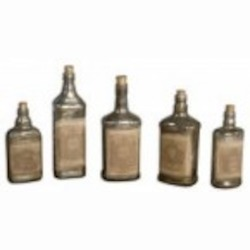 Uttermost Recycled Bottles Set/5 - 19754