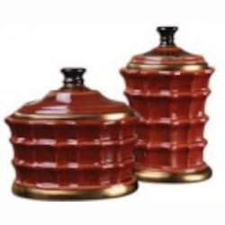 Uttermost Brianna Ceramic Canisters, S/2 - 19755