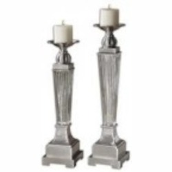Uttermost Canino Mercury Glass Candleholders, S/2 - 19769