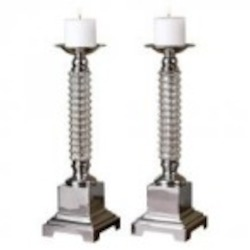 Uttermost Ardex Mercury Glass Candleholders S/2 - 19840