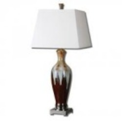 Uttermost Lupone Rust Bronze Ceramic Table Lamp - 26650