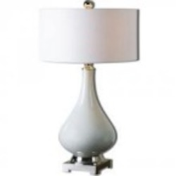 Uttermost Helton White Table Lamp - 26768-1