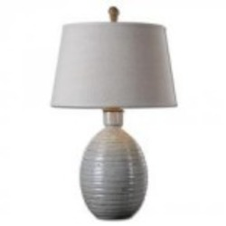 Uttermost Evigan Blue Ceramic Table Lamp - 26954