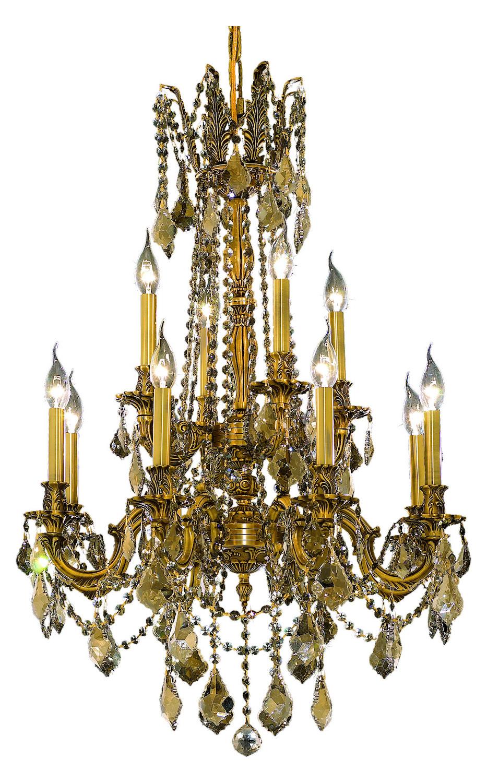 Elegant Lighting Swarovski Elements Smoky Golden Teak