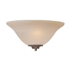 "Cordova Collection 1-Light 13"" Old Bronze Half Wall Sconce with Faux Alabaster Glass Shade 20001-OB"