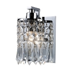 "Optix Collection 1-Light 5"" Polished Chrome Crystal Wall Sconce 11228/1"
