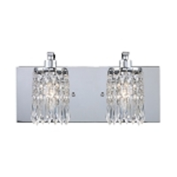"Optix Collection 2-Light 14"" Polished Chrome Bathroom Vanity Light 11229/2"