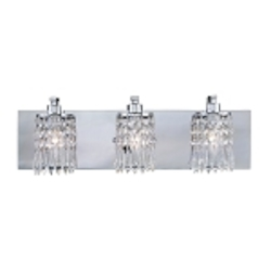 "Optix Collection 3-Light 21"" Polished Chrome Bathroom Vanity Light 11230/3"