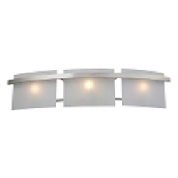 "Briston Collection 3-Light 27"" Satin Nickel Bathroom Vanity Fixture with Frosted White Glass 11282/3"