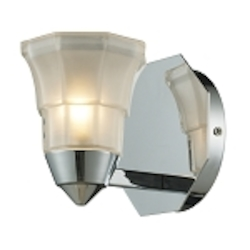 "Deco Collection 1-Light 5"" Polished Chrome Wall Sconce with Octagonal Opal Glass 11390/1"