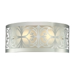 "Willow Bend Collection 2-Light 17"" Polished Chrome Laser-Cut Bathroom Light Fixture 11431/2"