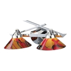 "Refraction Collection 2-Light 16"" Polished Chrome Bathroom Vanity Fixture with Jasper Glass 1471/2JAS"