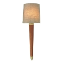 "Jorgenson Collection 1-Light 24"" Mahogany Wood Wall Sconce with Satin Brass Accents 31321/1"