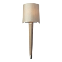 "Jorgenson Collection 1-Light 24"" Wood Wall Sconce with Polished Nickel Accents 31331/1"