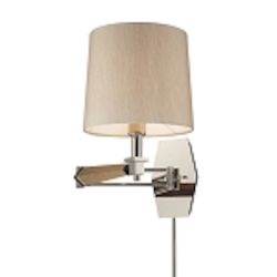 "Jorgenson Collection 1-Light 16"" Swing Arm Wall Sconce with Wood Accents 31332/1"