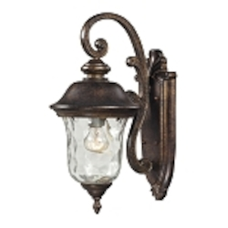"Lafayette Collection 1-Light 16"" Regal Bronze Outdoor Wall Lantern with Blown Water Glass 45020/1"