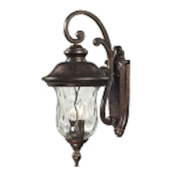 "Lafayette Collection 2-Light 22"" Regal Bronze Outdoor Wall Lantern with Blown Water Glass 45021/2"
