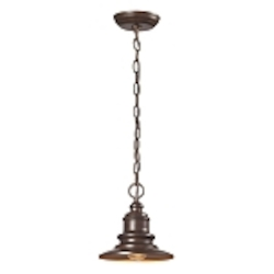 "Marina Collection 1-Light 9"" Hazelnut Bronze Nautical Outdoor Hanging Pendant 47011/1"