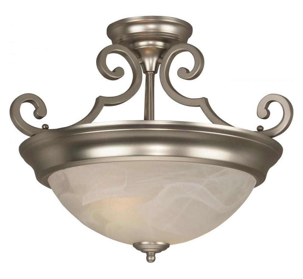 Craftmade Brushed Nickel 2 Light Energy Star Semi Flush Ceiling Fixture Nickel X224 Bn Nrg From