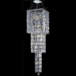"Maxim Collection 14-Light 54"" Chrome Crystal Chandelier 2032G54C"