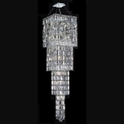 "Maxim Collection 18-Light 66"" Chrome Crystal Chandelier 2032G66C"