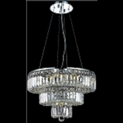 "Maxim Collection 9-Light 20"" Chrome Crystal Chandelier 2036D20C"