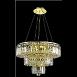 "Maxim Collection 9-Light 20"" Gold Crystal Chandelier 2036D20G"
