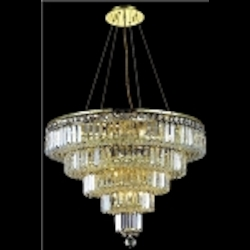 "Maxim Collection 14-Light 26"" Gold Crystal Chandelier 2036D26G"
