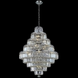 "Maxim Collection 30-Light 41"" Chrome Crystal Chandelier 2038D30C"