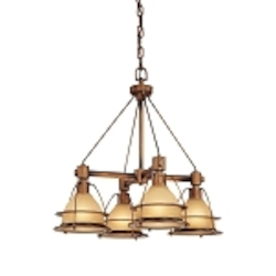 "Bristol Bay Collection 4-Light 25"" Sunset Bronze Chandelier F2054SBZ"